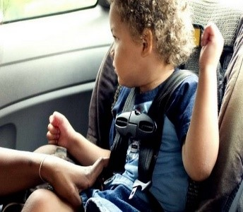 picture of a child in a car seat