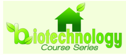 Biotechnology Course Series logo, sponsored by Arkansas Corn and Grain Sorghum Board